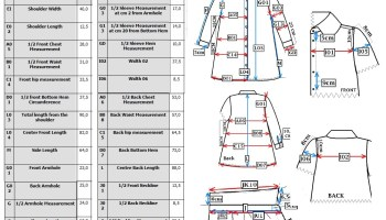 Measurement Sheet of Shirt Manufacturing