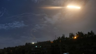 Photo of Syrian air defense reflects missile attack