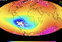 An abnormal gap detected in the Earth's protective field