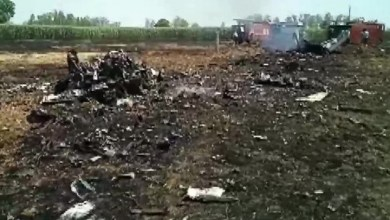 Photo of Indian Air Force MiG-29 crashes near border with Pakistan