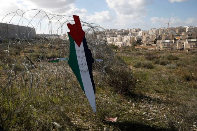 palestine flag westbank reuters