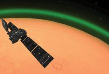 Astronomers have discovered a green glow in the atmosphere of Mars