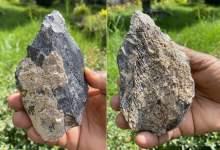 Photo of 1.4 million year old bone ax found in Africa