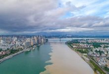 In China the Han River became two tone
