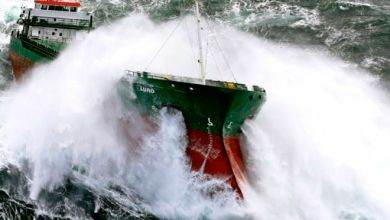 Photo of Incredible video from ship passengers caught in a 10-point storm