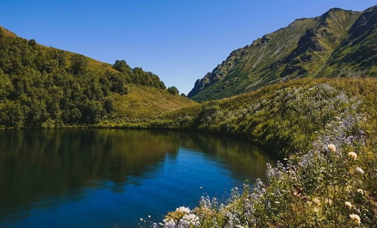 Lake disappears in Sochi