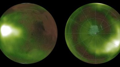 Photo of Astronomers observe the glow in the Martian atmosphere