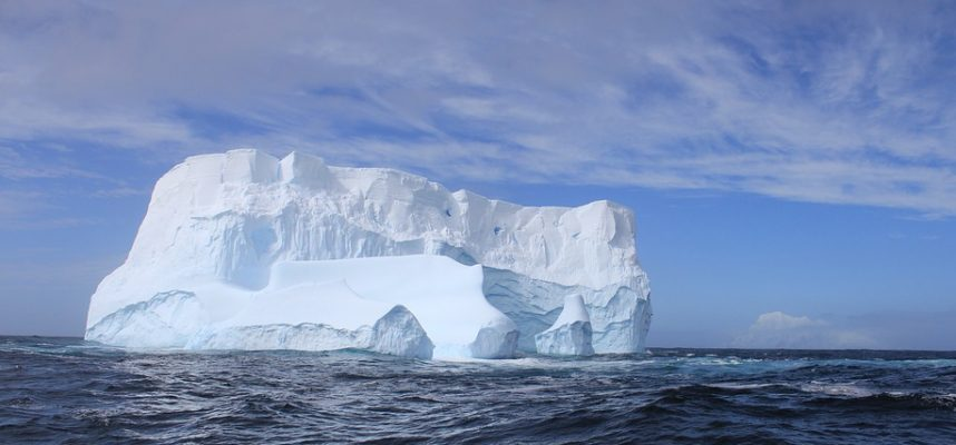 Canadas last ice shelf collapses to form a city sized iceberg