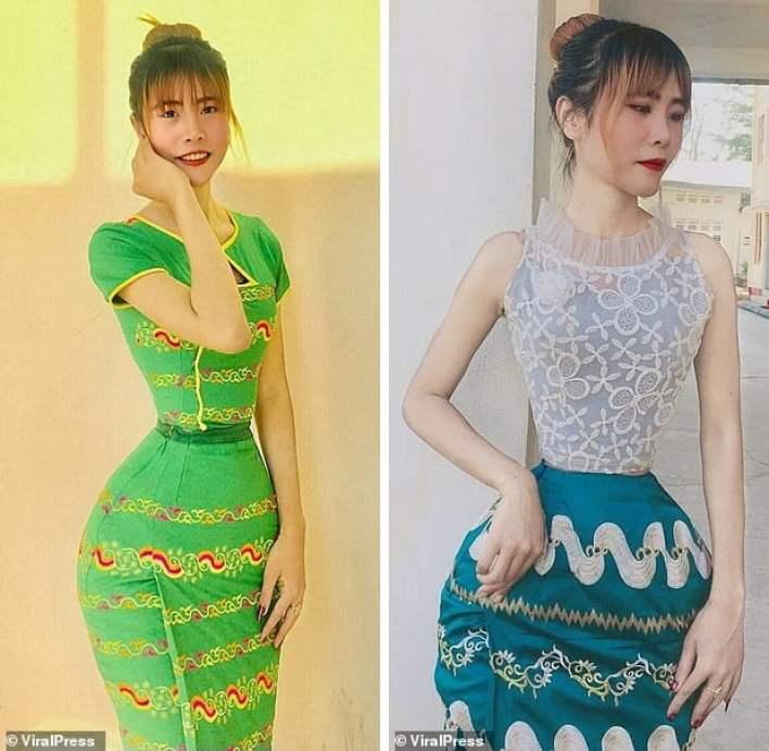 Girl with an incredibly narrow waist 6