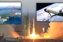 Photo of Chinese unmanned vehicle released unidentified object into space