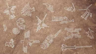 Photo of Nazca drawings point to the ancient temple of Angkor Wat