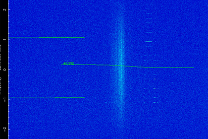 signal from a secret object in space