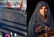 The image of the Virgin Mary drawn in chalk 13 years ago appeared on the asphalt