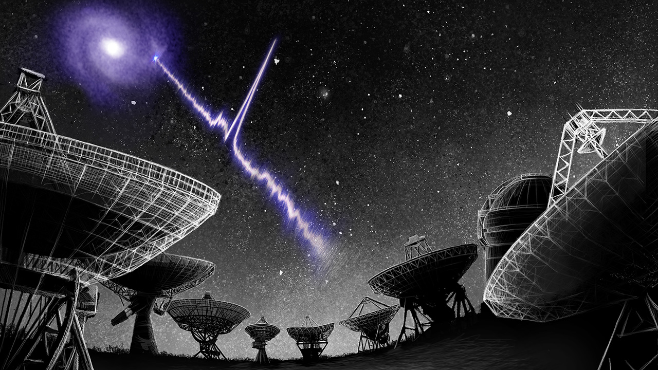 A powerful radio signal source has been discovered in our galaxy