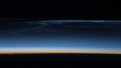Noctilucent clouds over Russia in November shocked local residents