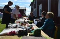 Ullexperterna från Lovikka, på Får- och ulldagen under Hantverksveckan.