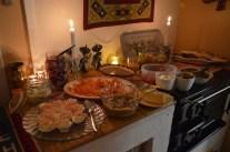 Julmat, nästan bara hemlagat - till och med senapen.
