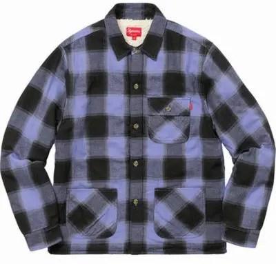 Supreme(シュプリーム)/Buffalo Plaid Sherpa Lined Chore Shirt