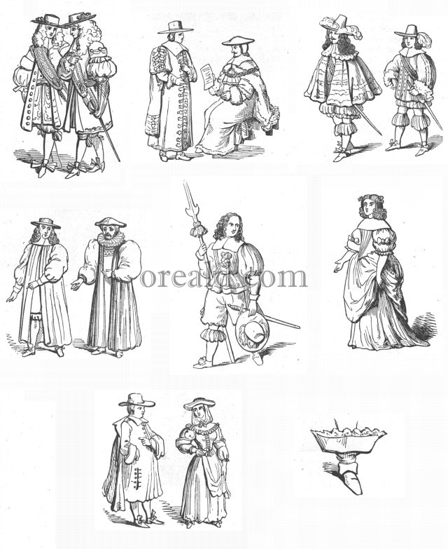 Picture Costumes of Charles II