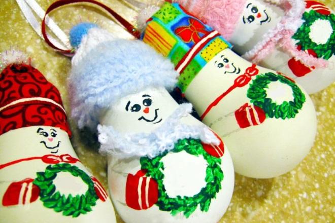 Muñecos de nieve de bombillas