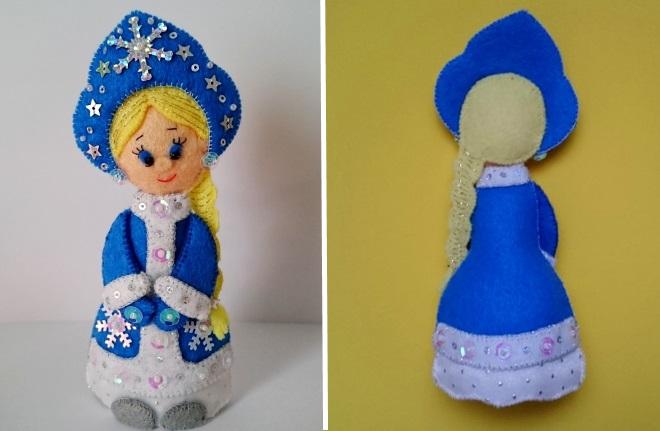 Jouet de la jeune fille de la neige