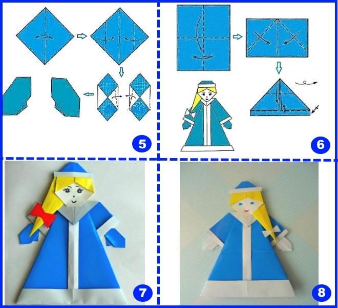 Sněhová maido origami 2.