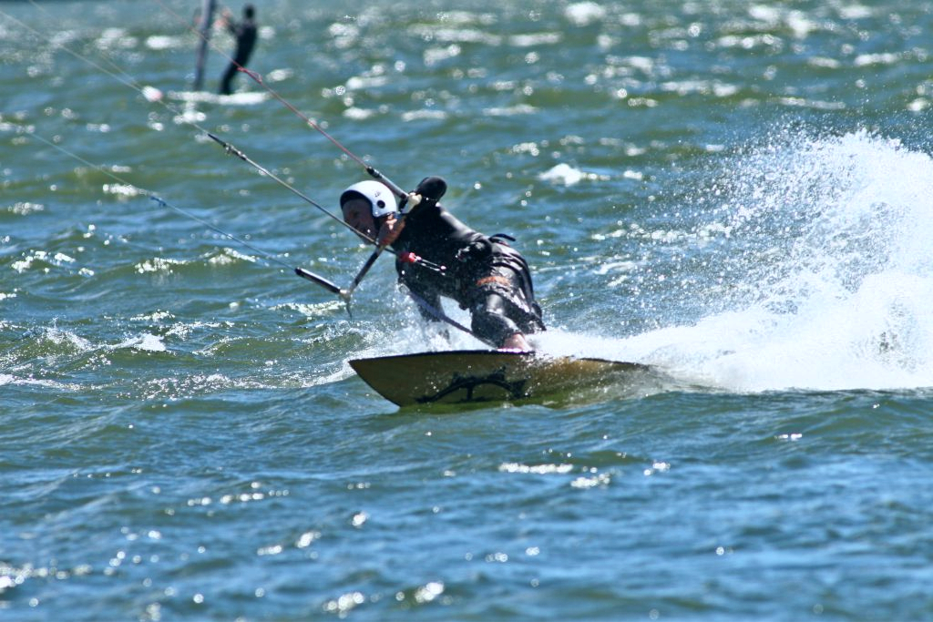 Dr. Noel Peterson practices slow burn fitness workouts to stay in shape for kite surfing