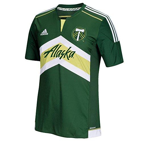 sale retailer 29904 76bd6 MLS Portland Timbers Men's Replica Short Sleeve Team Jersey, Green, Medium