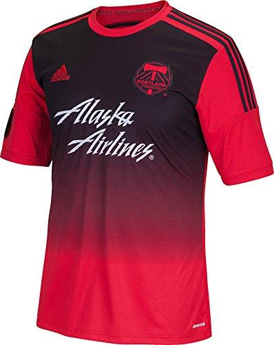 meet 04312 a8f69 MLS Portland Timbers Men's Short Sleeve Replica Secondary Jersey, XX-Large,  Red
