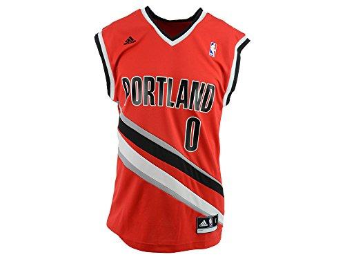 detailed pictures 46784 3ef9b NBA Portland Trail Blazers Damian Lillard #0 Men's Replica Jersey, X-Large,  Red