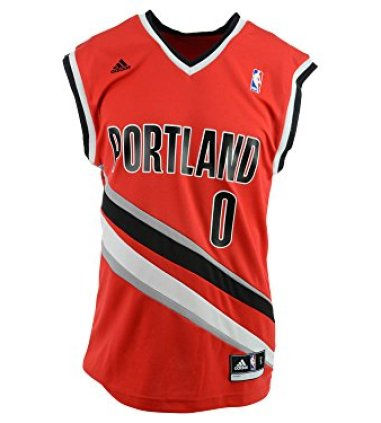 detailed pictures a9750 57f4e NBA Portland Trail Blazers Damian Lillard #0 Men's Replica Jersey, X-Large,  Red