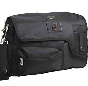 NBA-Portland-Trail-Blazers-Travel-Messenger-Bag-15-Inch-Black-0