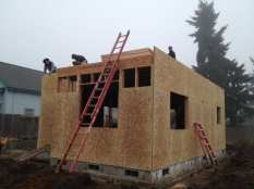 Preparing for the second floor walls