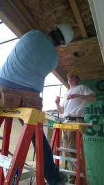 Putting up sheathing