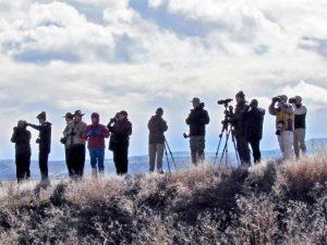 Birders near Klamath Falls, photo by Diana Byrne