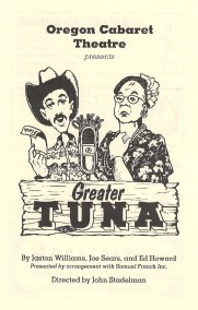 Greater Tuna (remount) Playbill