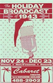Holiday Broadcast of 1943 (remount) Playbill