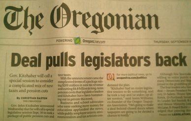 Oregon business plan and kitzhaber