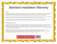 Standard Installation Warranty  Oregon City Carpet ...