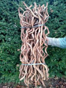 twisted natural wood rattan