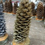 gold glittered sugar pine christmas tree