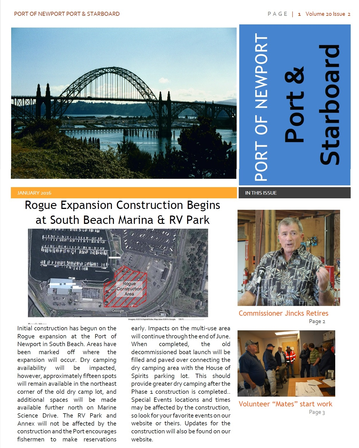 Jun2016 - Port of Newport - Port & Starboard Newsletter Volume 20 Issue 2 online edition 1