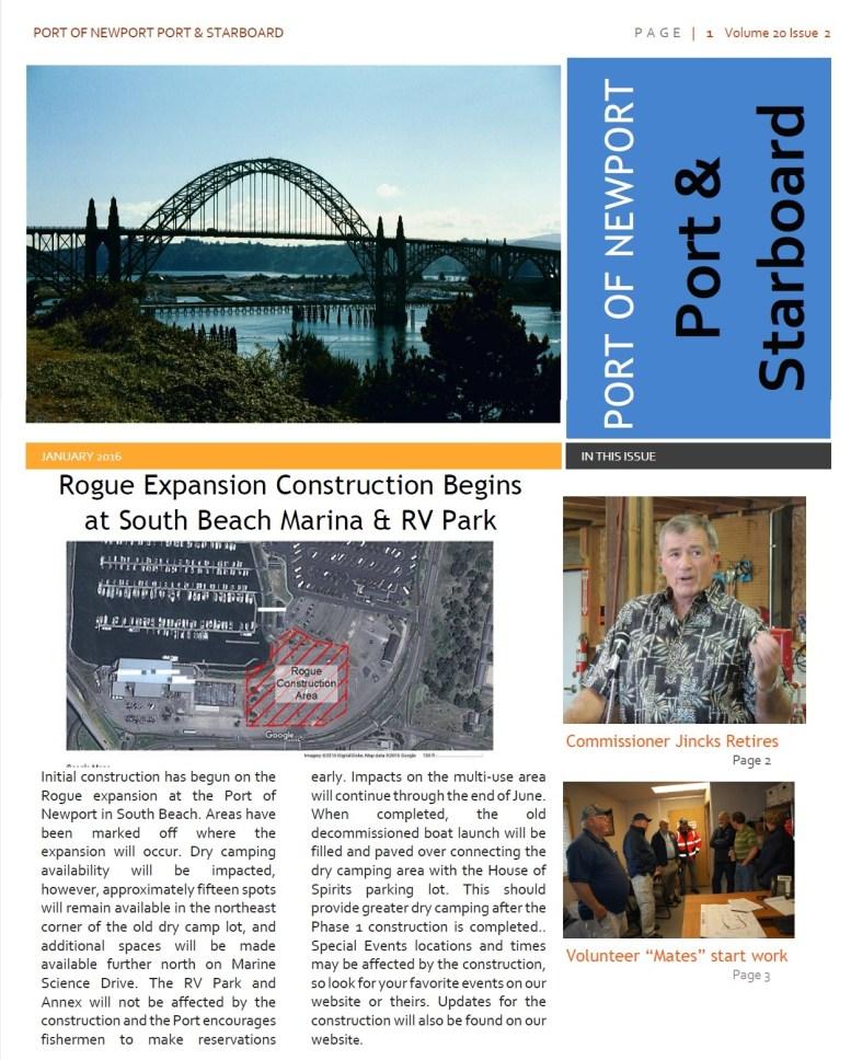 Jun2016 - Port of Newport - Port & Starboard Newsletter Volume 20 Issue 2 online edition 1