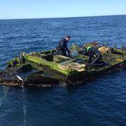 tsunami debris boat