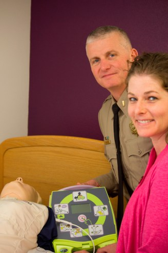 Kathy Brier and Curtis Landers AED