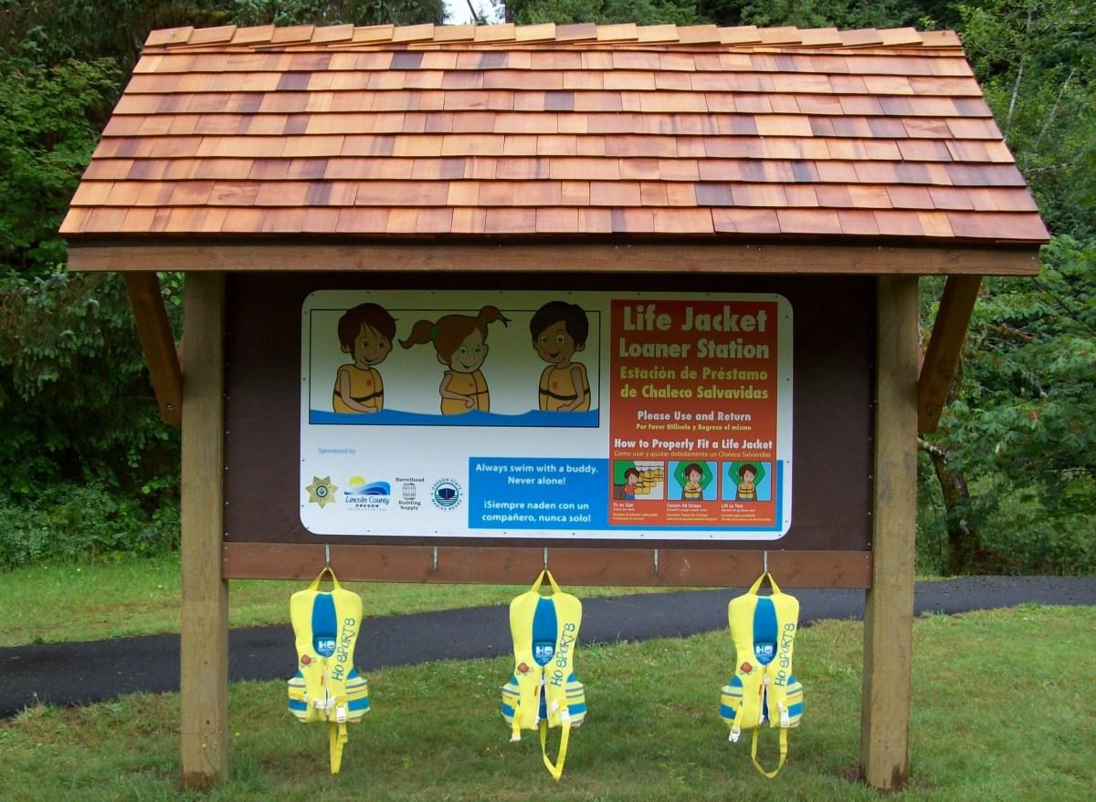 Life Jacket Kiosks At Lincoln County Swim Areas