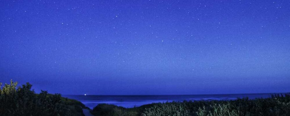 Beautiful Starry Night over the Boardwalk at the Beach House at Spirit Cove