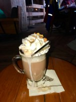 Bruno's Brownie-Created in honor of the lodge mascot. Crater Lake hazelnut-espresso vodka, Bailey's Irish cream Cointreau, hot chocolate, whipped cream, hazelnuts and nutmeg (what a mess!)