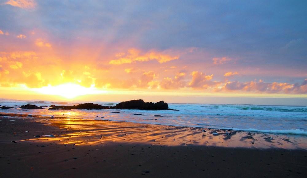 Sunset on an Oregon Coast beach