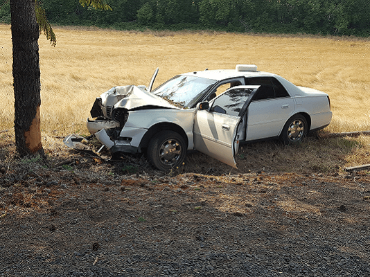 Gina Laracy fatal crash Lane County Oregon Cadillac